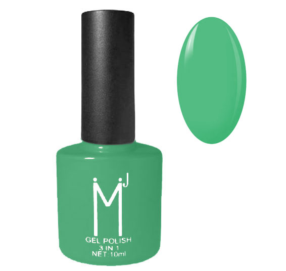 Oja semipermanenta 3 in 1, MJ Gel Polish, Nuanta 086 Fresh Green, 10 ml-big