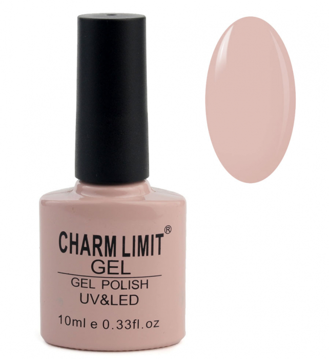 Oja semipermanenta CHARM LIMIT Gel Polish UV & LED, Nuanta 028 Milkshake, 10 ml-big