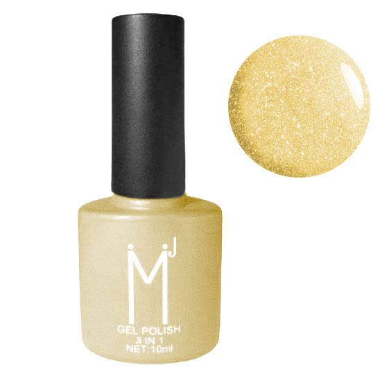 Oja semipermanenta cu sclipici 3 in 1, MJ Gel Polish, Nuanta 098, Light Gold, 10 ml-big