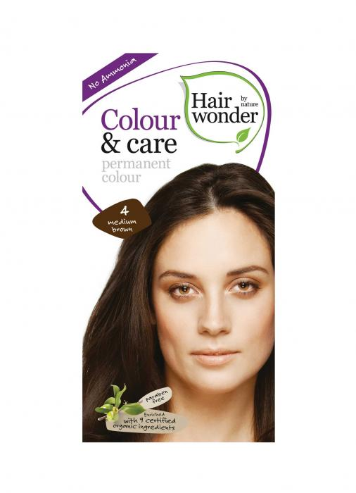 Vopsea De Par Fara Amoniac HennaPlus Hair Wonder-4 Medium Brown-big
