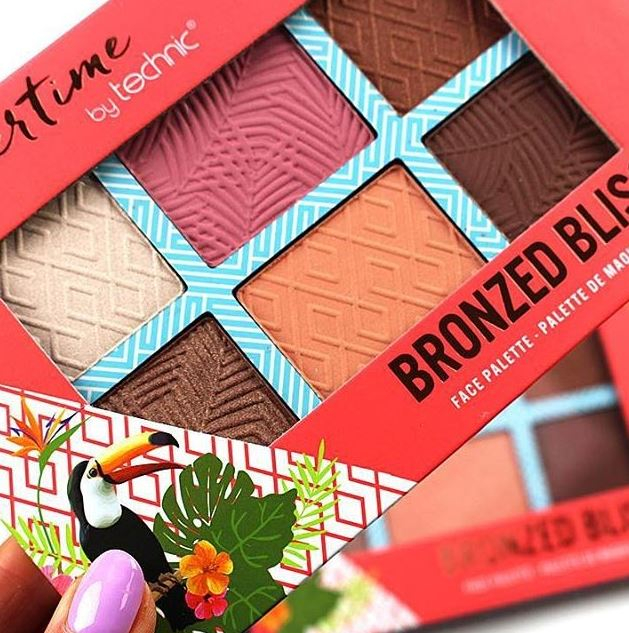 Paleta bronzanta iluminatoare TECHNIC Summertime - Bronzed Bliss, 6 culori, 2 x 3.6 g-big