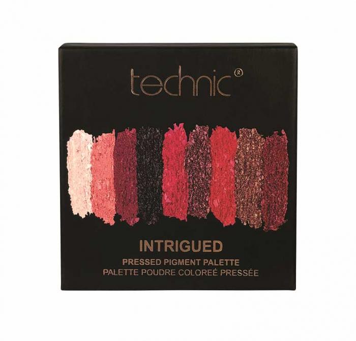 Paleta Farduri TECHNIC Pressed Pigment Palette, Intrigued, 9 culori-big