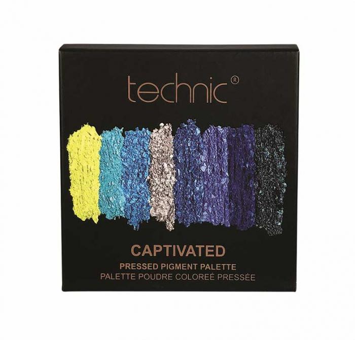 Paleta Farduri TECHNIC Pressed Pigment Palette, Captivated, 9 culori-big