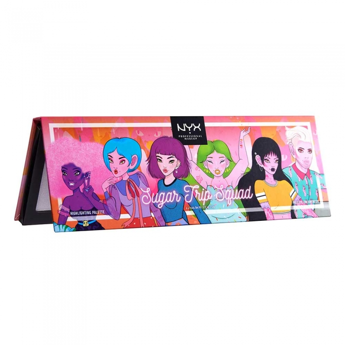 Paleta Iluminatoare NYX Professional Sugar Trip Squad Highlighting Palette Limited Edition-big