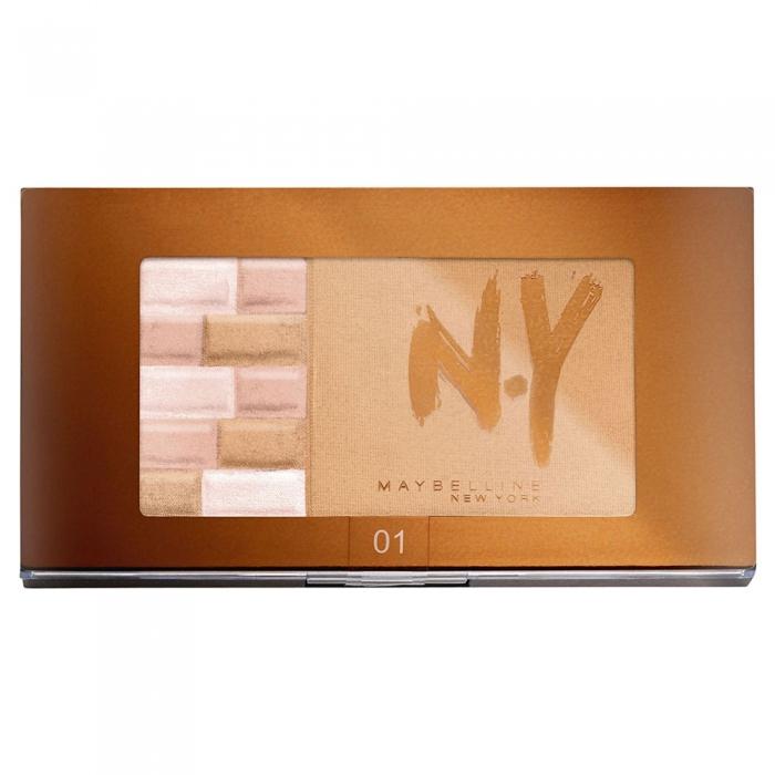 Paleta Pentru Bronz Si Iluminare Maybelline FaceStudio Bricks Bronzer - 01 Blondes, 7 gr-big