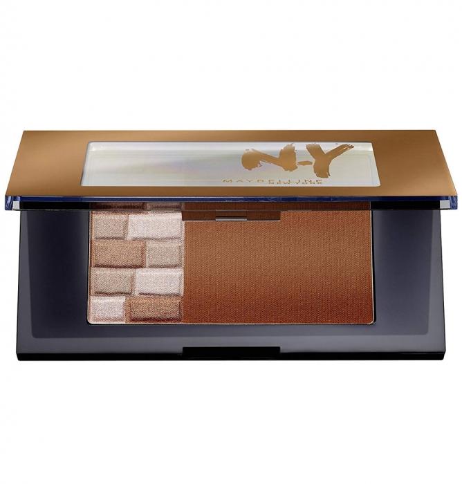 Paleta Pentru Bronz Si Iluminare Maybelline FaceStudio Bricks Bronzer - 02 Brunettes, 7 gr-big