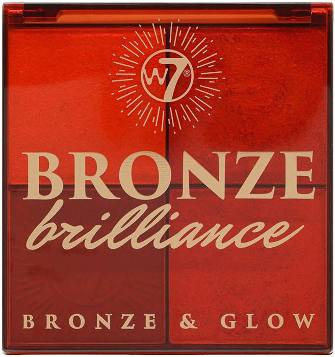 Paleta Profesionala pentru Bronzare, Contur si Iluminare W7 Bronze Brilliance Bronze & Glow Palette, 64 g-big