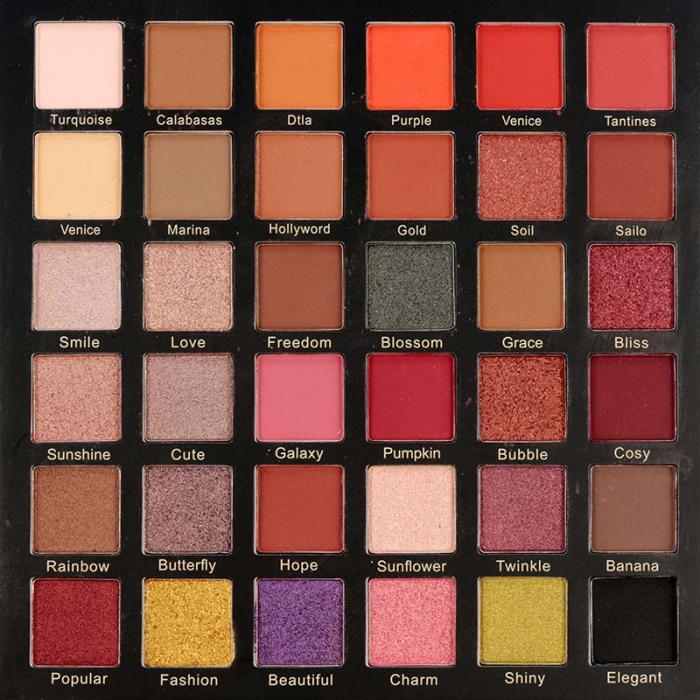 Paleta Profesionala de Farduri Igoodco, Medusa, 36 Colors Eye Shadow Palette, 36 x 1.35 g-big