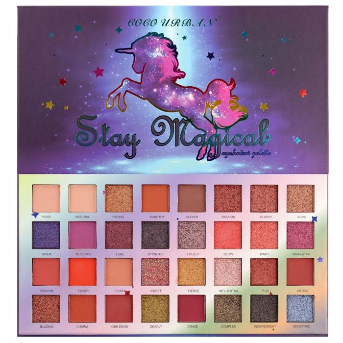 Paleta Profesionala de Farduri Stay Magical, 32 Color Eyeshadow Palette, 35 g-big