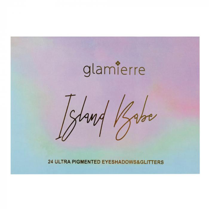Paleta Profesionala de Farduri Glamierre, Island Babe, 24 Ultra Pigmented Eyeshadows & Glitters-big