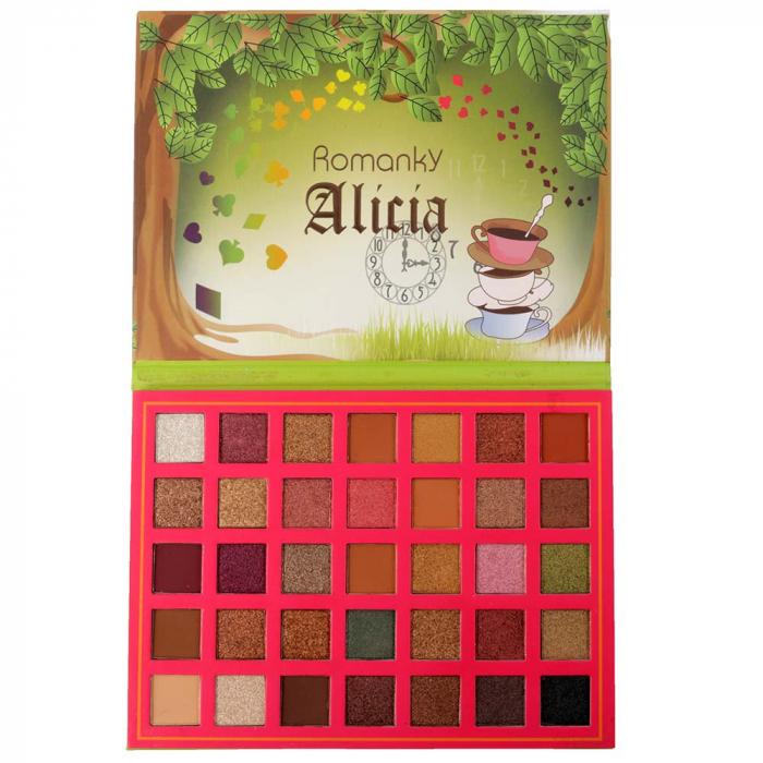 Paleta Profesionala de Farduri Alicia Romanky, 35 Color Eyeshadow Palette-big