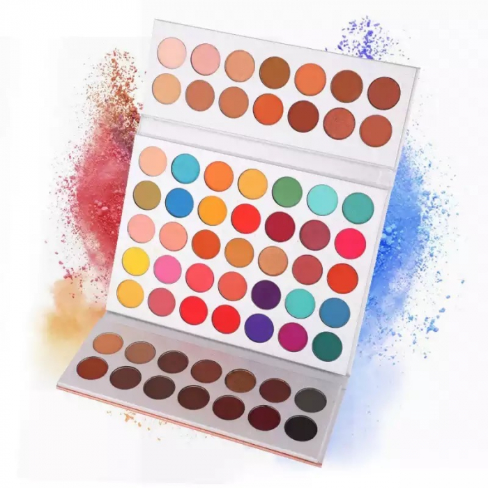 Paleta Profesionala de Farduri Beauty Glazed Gorgeous Me, Eye Shadow Tray, 63 Culori-big