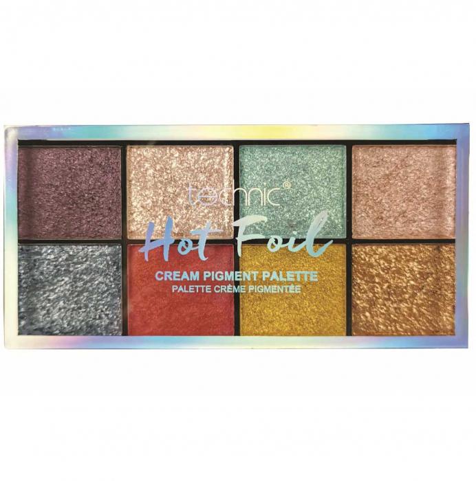 Paleta Profesionala de Farduri Technic 8 Cream Pigment Palette, HOT FOIL, 8 Culori, 30 g-big