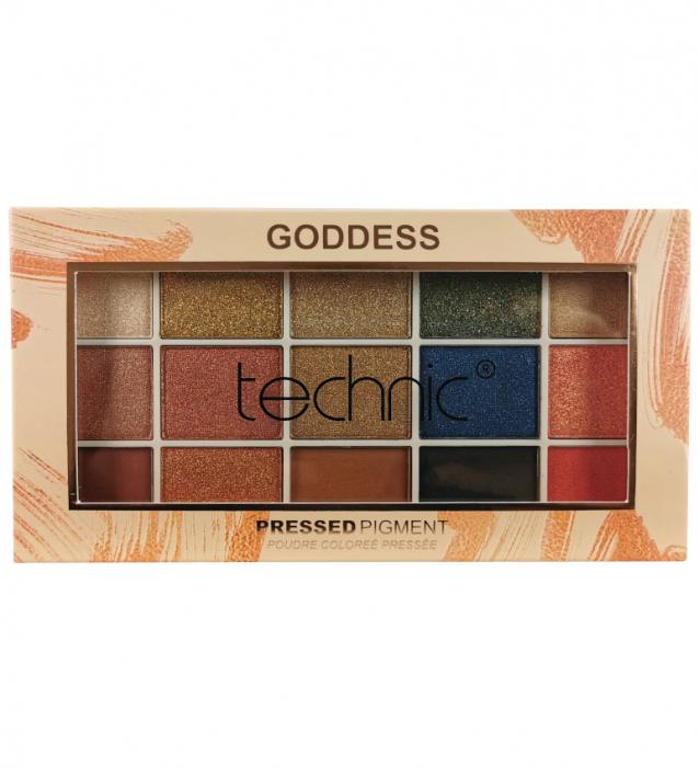 Paleta Profesionala de Farduri Technic 15 Pressed Pigment Palette, Goddess 15 Culori, 30 g-big