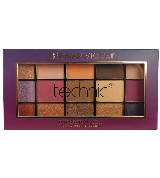 Paleta Profesionala de Farduri Technic 15 Pressed Pigment Palette, Persian Violet, 15 Culori, 30 g-big