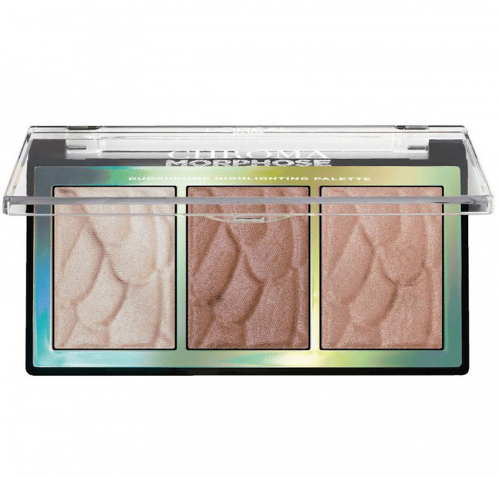 Paleta iluminatoare L'Oreal Paris Chroma Morphose Duo Chrome Highlighting Palette, 9 g-big