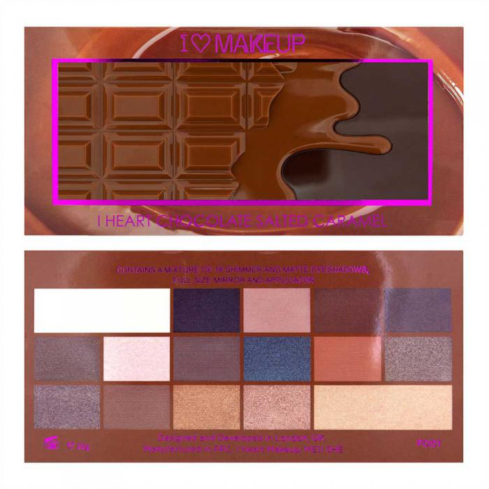 Paleta de Farduri MAKEUP REVOLUTION I Heart Makeup I Love Chocolate - Salted Caramel-big