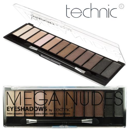 Trusa Profesionala Cu 12 Farduri Pigmentate TECHNIC Mega Nudes, 18g-big