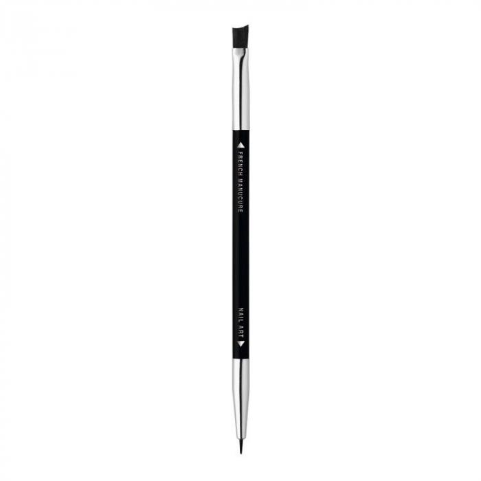 Pensula decoratiuni unghii, Bourjois Paris Professional, 2 capete - French Manicure brush & Nail Art brush-big
