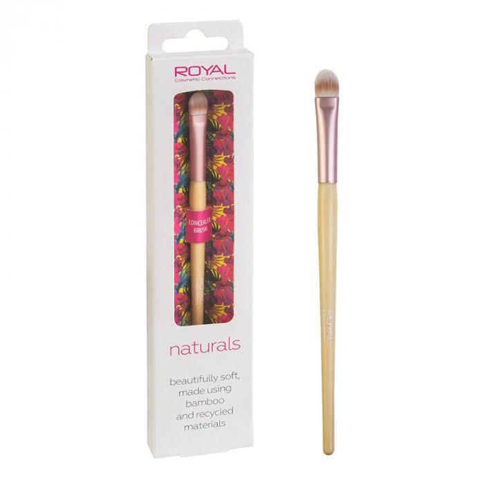 Pensula din bambus pentru aplicarea corectorului ROYAL Natural Concealer Brush, 100% Eco-friendly-big