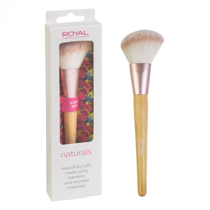 Pensula din bambus pentru ten ROYAL Natural Blusher Brush, 100% Eco-friendly-big
