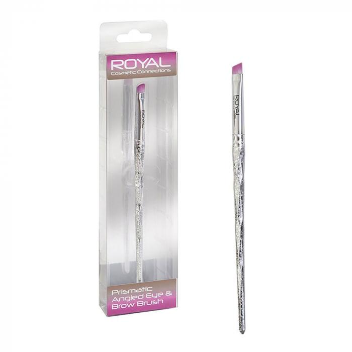 Pensula unghiulara pentru sprancene ROYAL Prismatic Angled Eye & Brow Brush, 17 cm-big