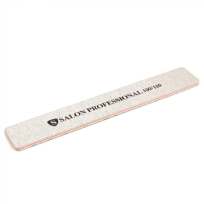 Pila profesionala pentru unghii Salon Professional, granulatie 100/180, tip dreptunghi-big