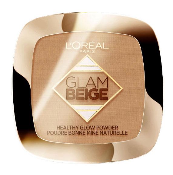 Pudra Bronzanta L'Oreal Paris Glam Beige Healthy Glow Powder, Medium Light, 9 g-big