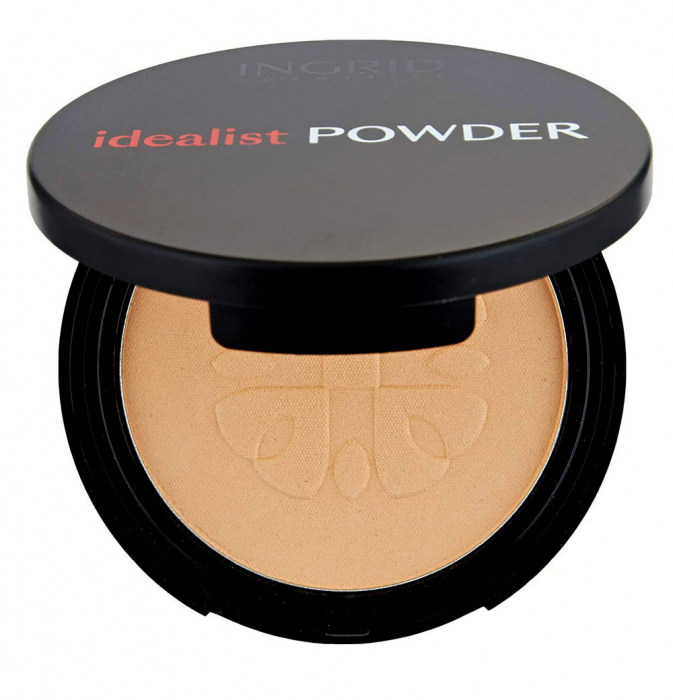 Pudra Compacta cu aspect mat Ingrid Cosmetics Idealist Powder, nr. 03, 7 g-big
