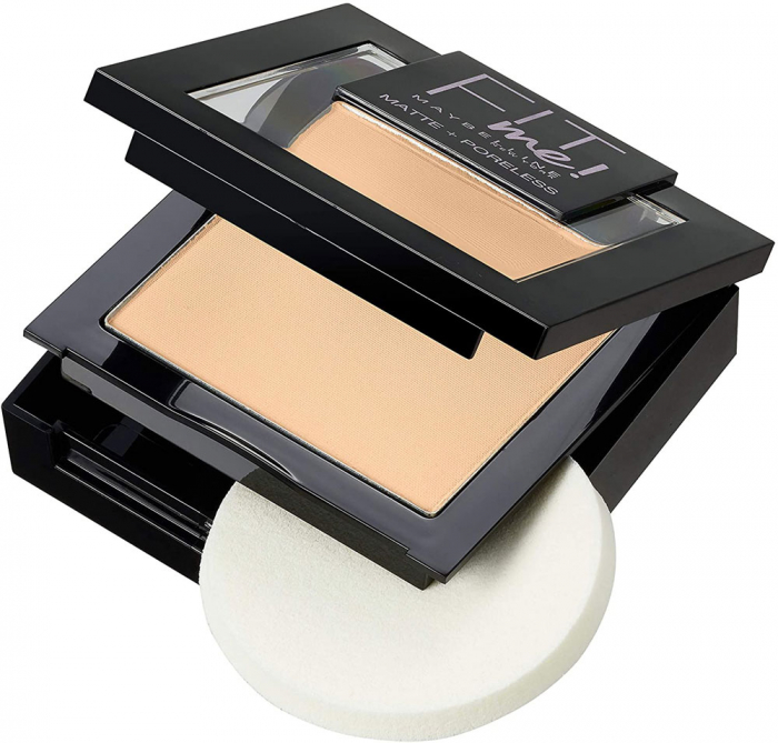 Pudra compacta Maybelline New York Fit Me Matte & Poreless Powder, 102 Fair Ivory-big