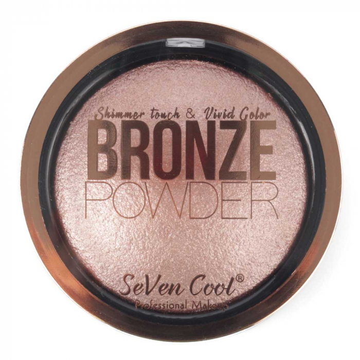 Pudra Profesionala Iluminatoare, Seven Cool, Bronze Powder, Shimmer Touch, 03 Rose Quartz-big