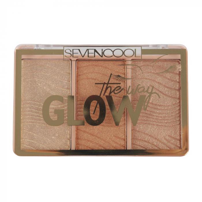 Paleta Iluminatoare, Seven Cool, GLOW The way, 04 Gold Diamonds, 6 g-big