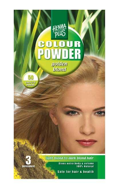 Pudra De Par Permanenta Naturala HennaPlus - 50 Golden Blond-big