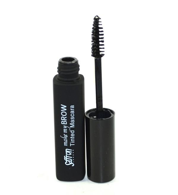 Rimel pentru conturarea sprancenelor Saffron Make My Brow Tinted Mascara - Black, 8 ml-big