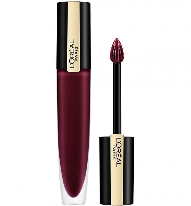 Ruj lichid mat metalizat L'Oreal Paris Rouge Signature Metallics 205 I Fascinate, 7 ml-big