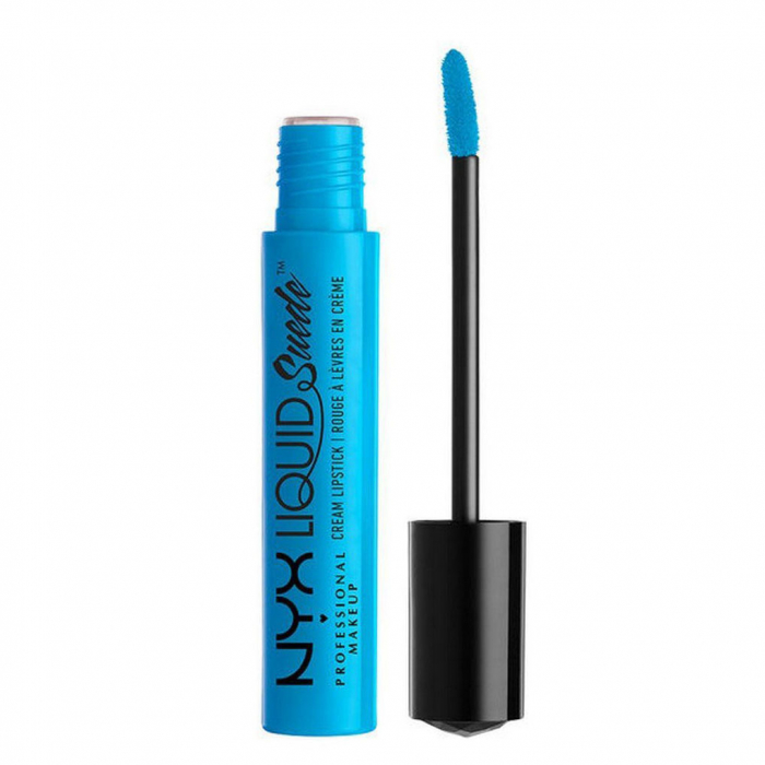 Ruj lichid mat NYX Professional Makeup Liquid Suede Cream, 16 Little Denim Dress, 4 ml-big