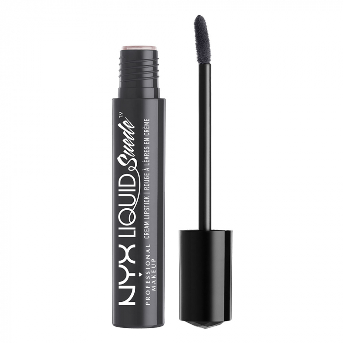 Ruj lichid mat NYX Professional Makeup Liquid Suede Cream, 01 Stone Fox, 4 ml-big