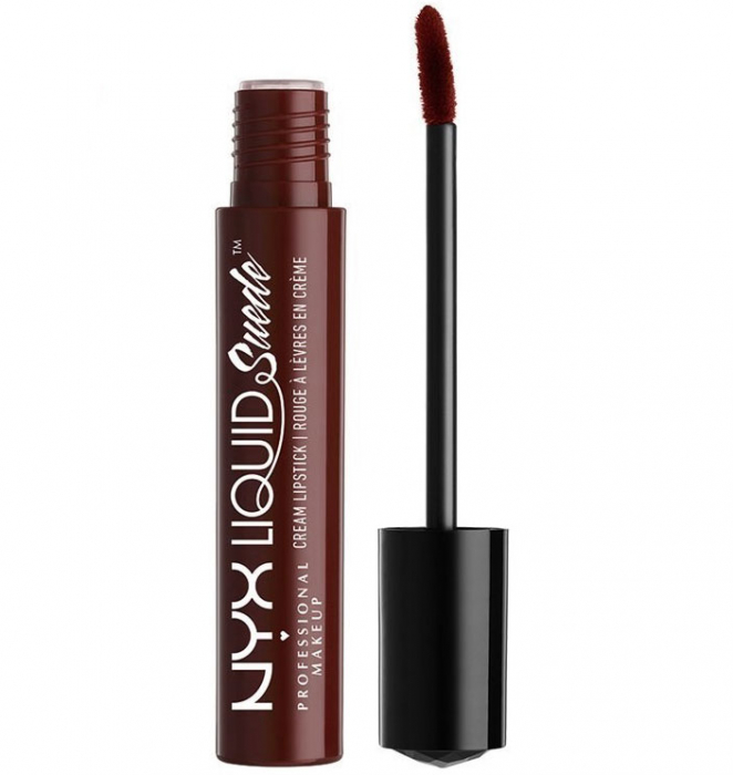 Ruj lichid mat NYX Professional Makeup Liquid Suede Cream, 43 Covet, 4 ml-big