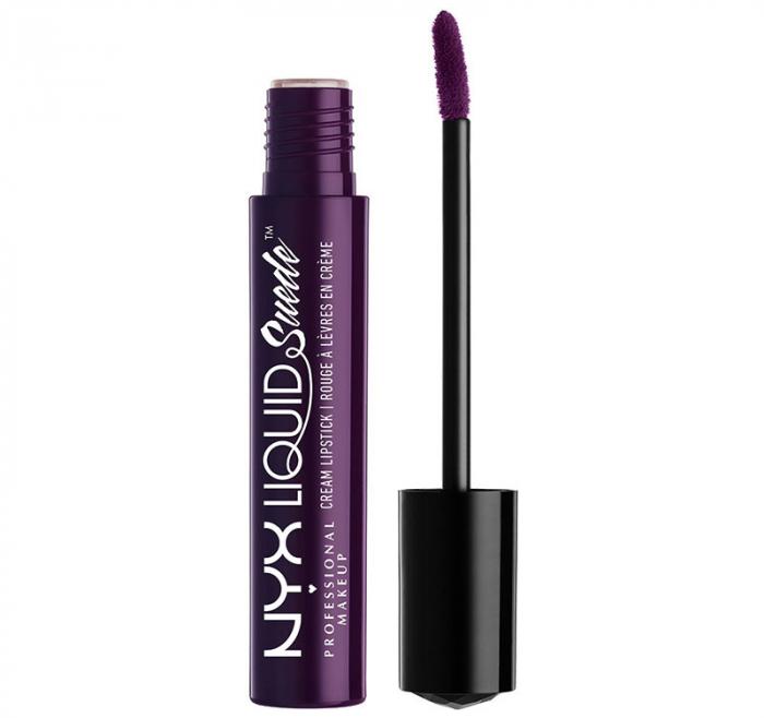 Ruj lichid mat NYX Professional Makeup Liquid Suede Cream, 44 Temptress, 4 ml-big