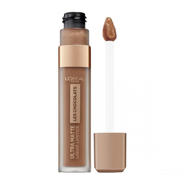 Ruj lichid ultra mat rezistent la transfer L'Oreal Paris INFAILLIBLE Les Chocolats, 860 Ginger Bomb-big