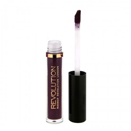 Ruj lichid mat Makeup Revolution Salvation Velvet Lip Lacquer, Velvet Vamp-big