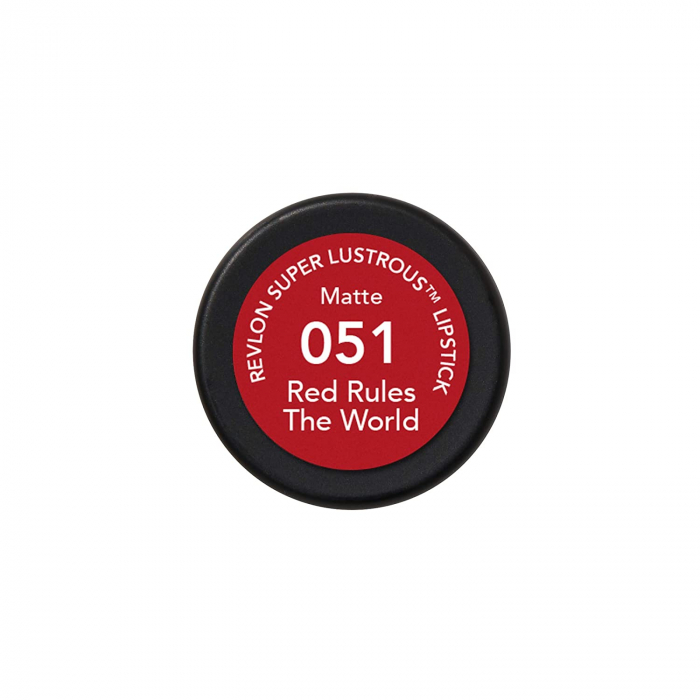 Ruj mat Revlon Super Lustrous Lipstick, 051 Red Rules The World, 4.2 g-big