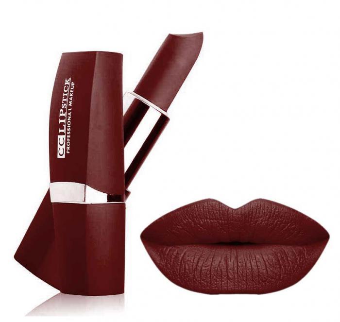 Ruj Mat Profesional Kiss Beauty CC Lips - 18 Vintage Brown-big