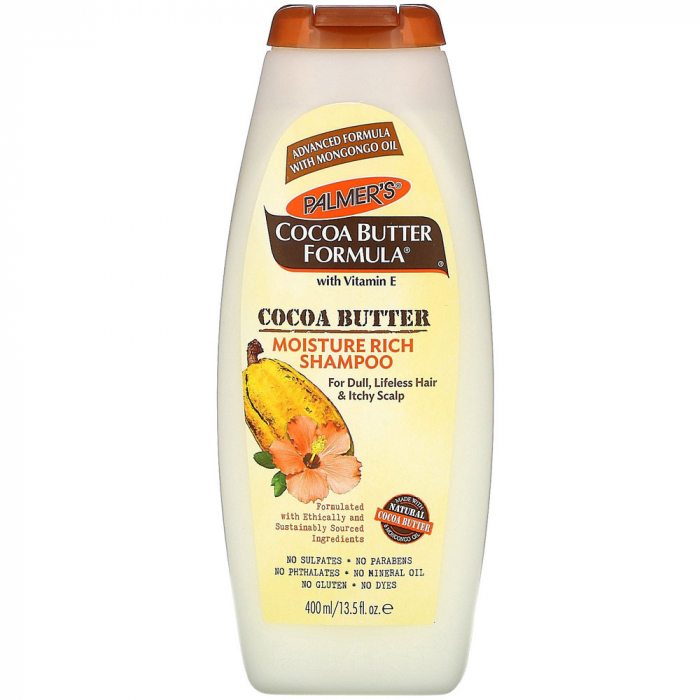 Sampon pentru scalp sensibil si par tern, degradat, cu Unt de Cacao PALMER'S Cocoa Butter Formula, Vitamina E, 400 ml-big