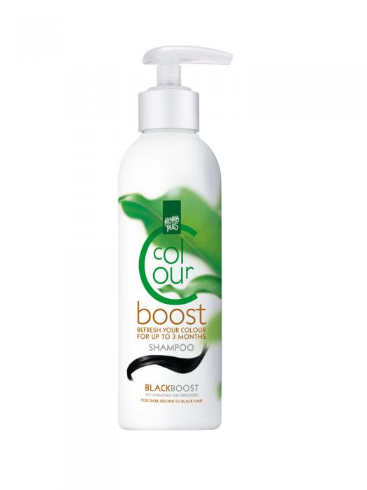 Sampon colorant HennaPlus Colour Boost, Black - 200 ml-big