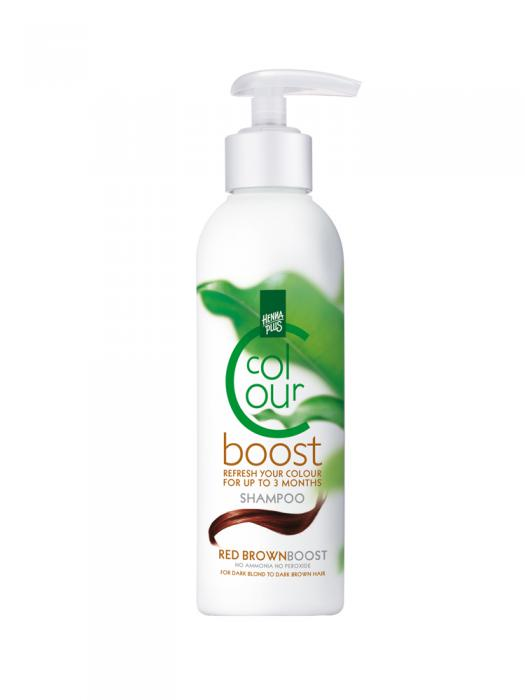 Sampon colorant HennaPlus Colour Boost, Red Brown - 200 ml-big