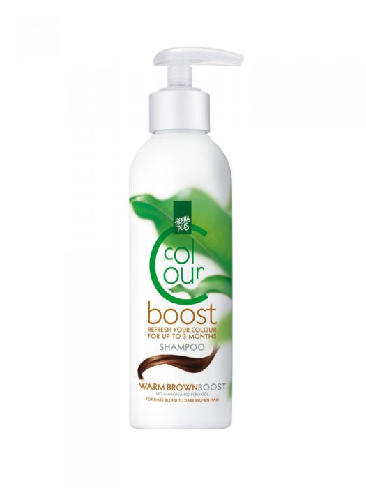 Sampon colorant HennaPlus Colour Boost, Warm Brown - 200 ml-big