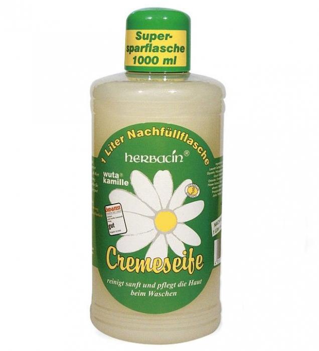 Rezerva sapun-crema lichid cu musetel, HERBACIN, 1000 ml-big