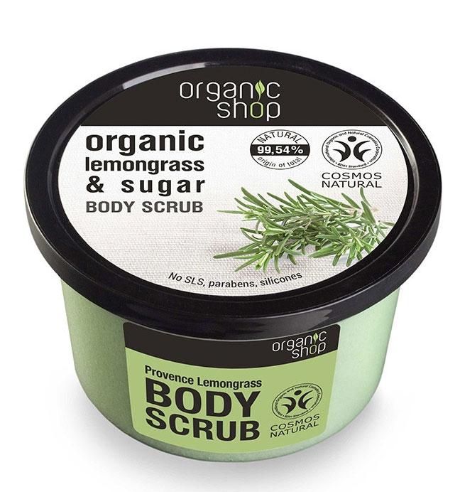 Scrub de corp delicios cu Lemongrass Provence si Zahar, Organic Shop Body Scrub, Ingrediente 99.54% Naturale, 250 ml-big