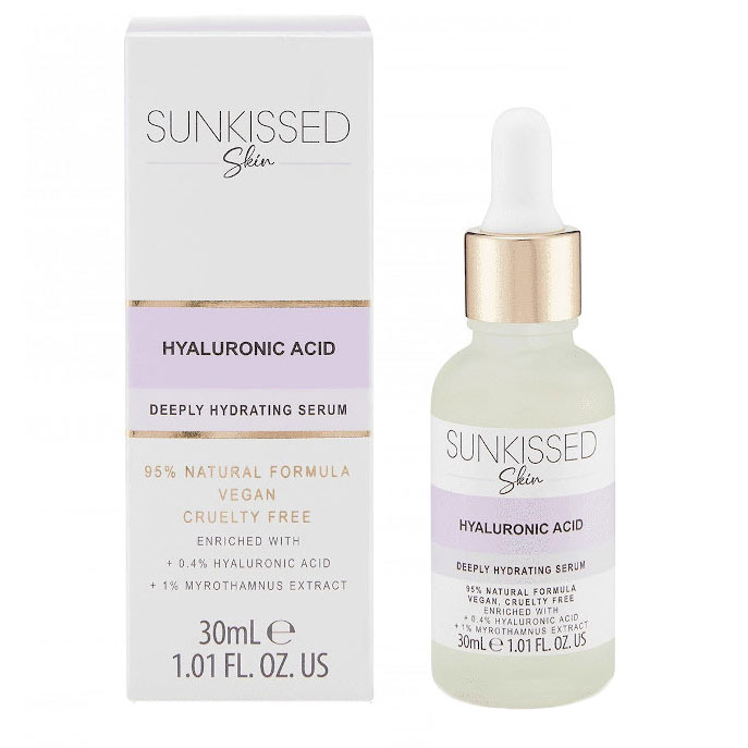 Ser cu Acid Hyaluronic, SUNKISSED Deeply Hydrating Serum, 95% Ingrediente Naturale, 30 ml-big